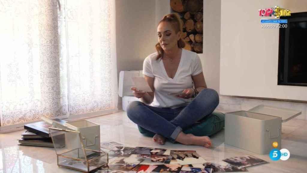 Rocío Carrasco Mohedano en una imagen inédita que se ha mostrado en el programa, antes de la emisión del documental.