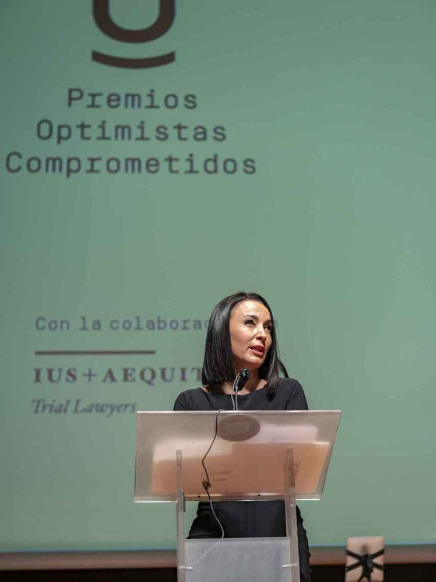 La abogada Cruz Sánchez de Lara, durante los Premios Optimistas Comprometidos.