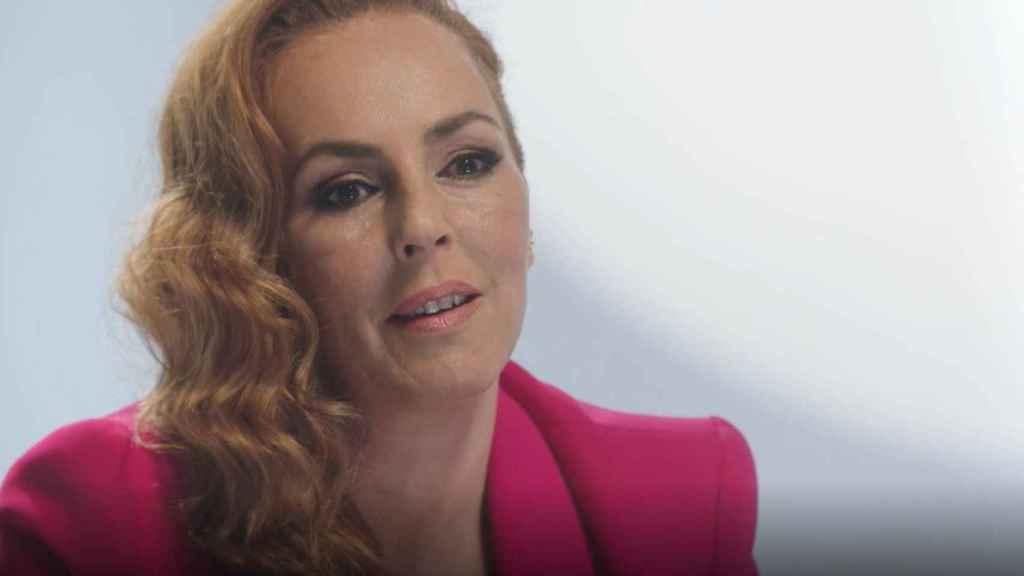 Rocío Carrasco durante la grabación del último episodio de 'Rocío: contar la verdad para seguir viva'.