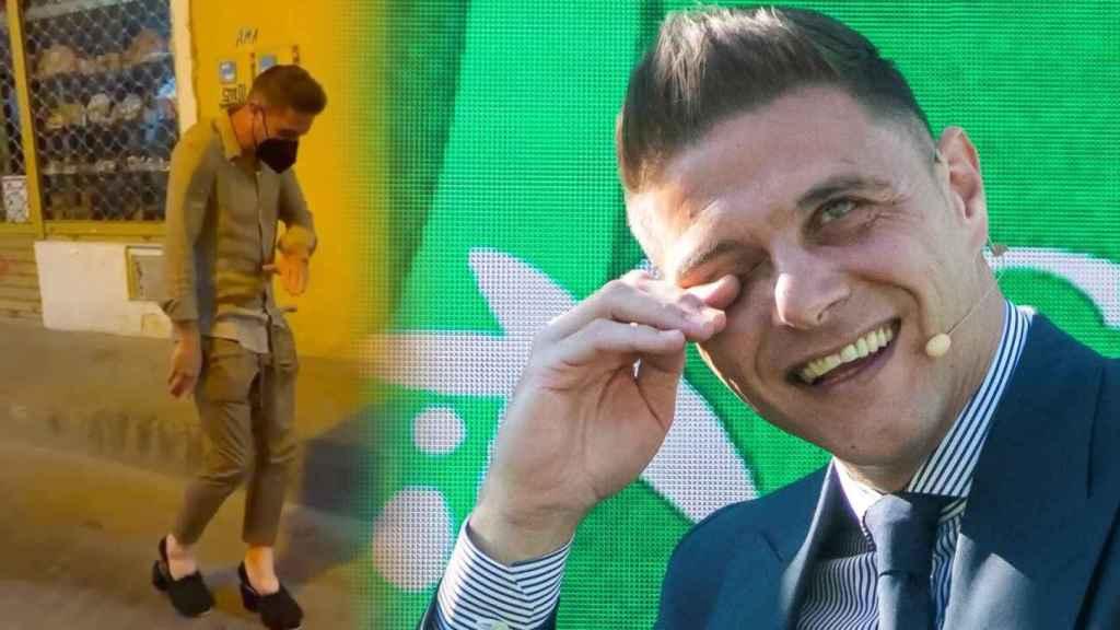 Joaquín Sánchez y su 'look' con tacones, en un fotomontaje