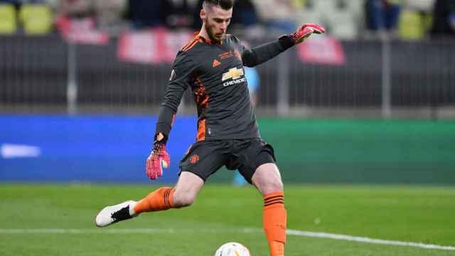 David de Gea, en un partido del Manchester United