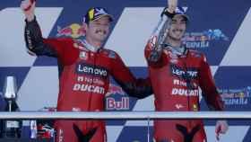 Jack Miller y Pecco Bagnaia, en el podio del Gran Premio de España