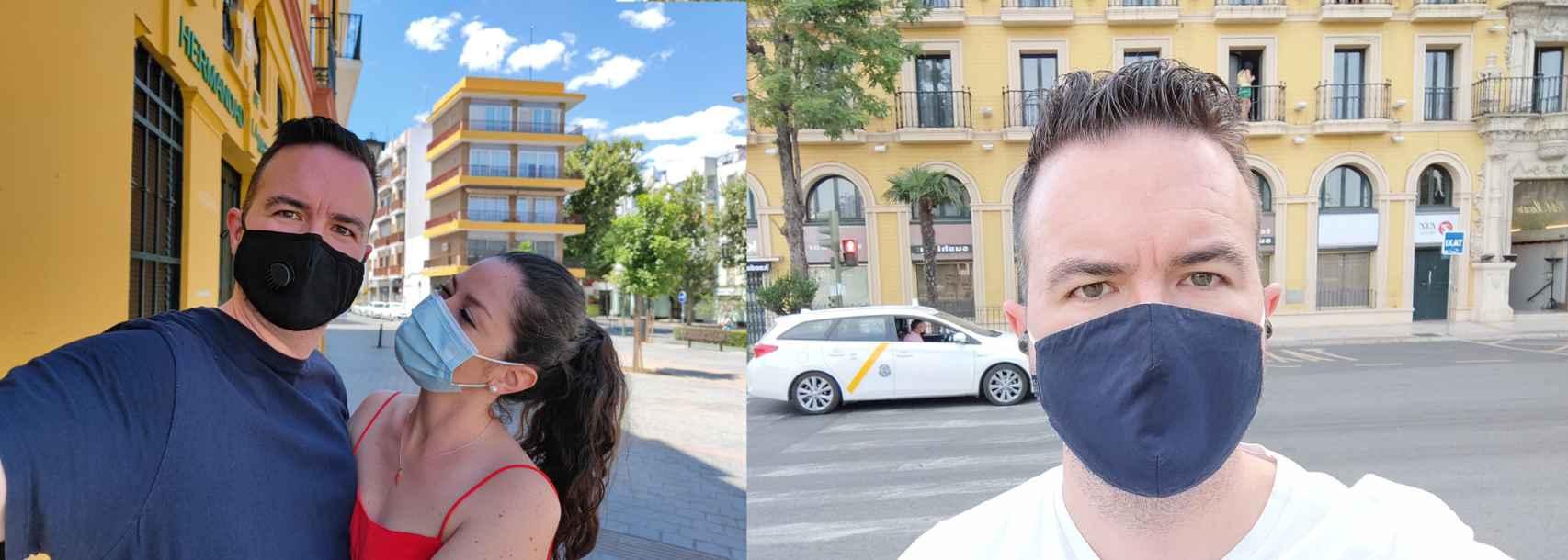 Selfie con la cámara trasera / Selfie con la cámara delantera
