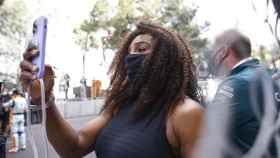 Serena Williams, durante el Gran Premio de Mónaco 2021