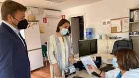 Pedro Congosto y Alejandra Hernández, este miércoles en Illescas