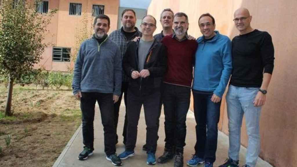 Los presos del 'procés' en la prisión de Lledoners.