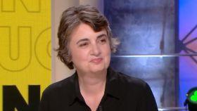 Laurence des Cars en el programa de televisión 'Quotidien'.