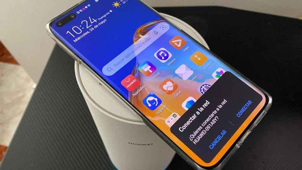 Conectarse a la red del Huawei WiFi Mesh es tan fácil como poner el móvil encima