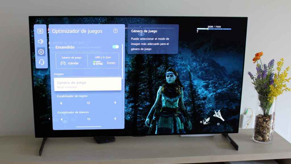 El televisor LG G1 es perfecto para jugar.