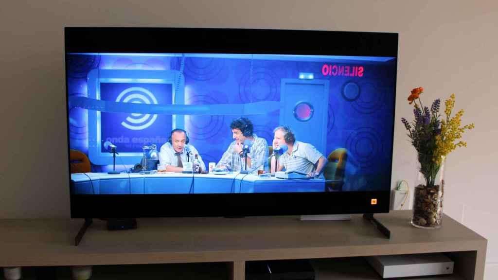 El televisor LG G1 analiza las escenas para cambiar de un modo de imagen a otro.