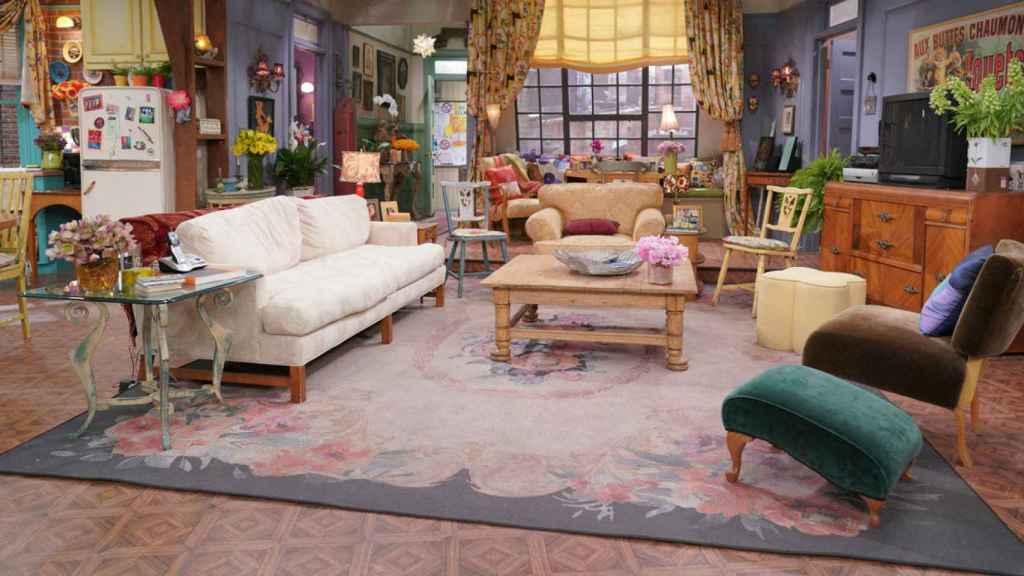 El salón del apartamento de Monica
