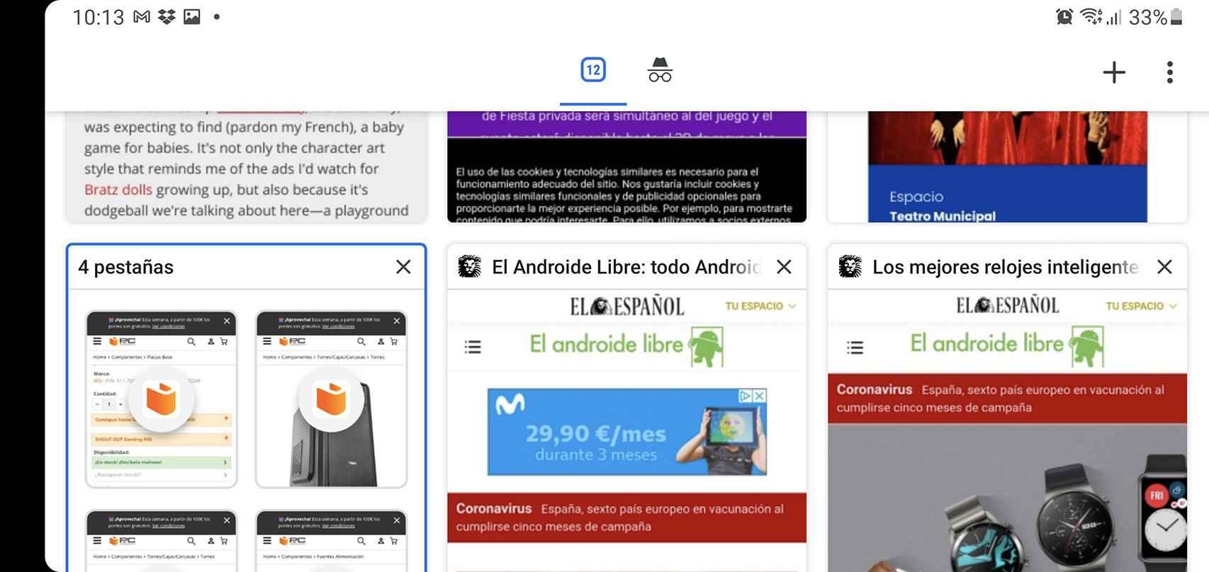 Tabs in Chrome