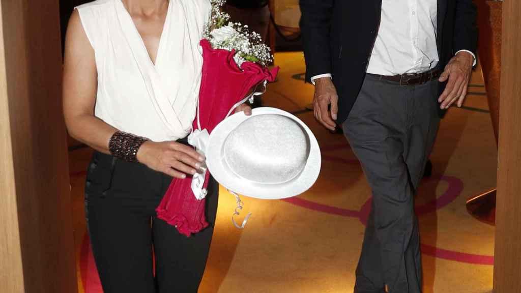 Ónega junto a su pareja, César Vidal, durante los premios.