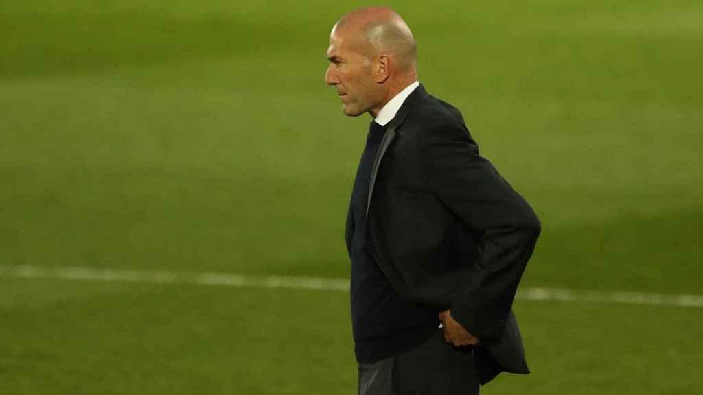 Zinedine Zidane, durante un partido con el Real Madrid