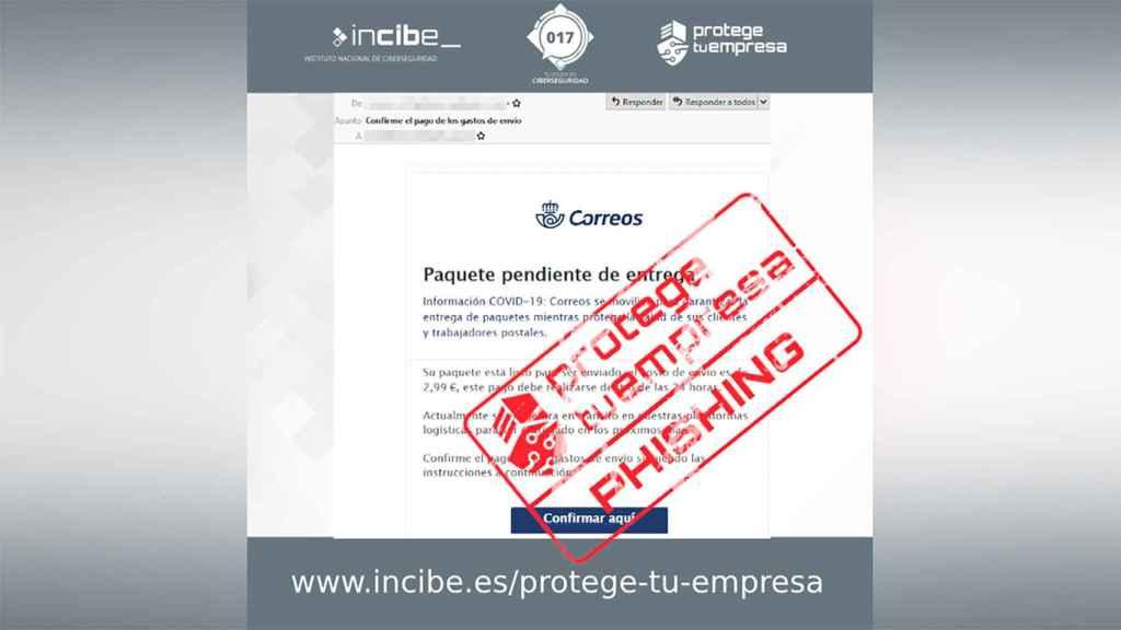 Phishing en Correos.