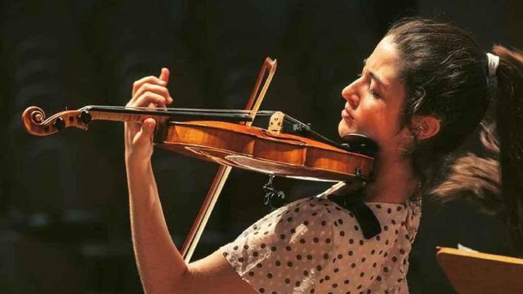 María Dueñas en uno de sus recitales