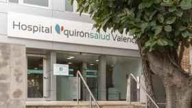 Fachada del hospital Quirónsalud Valencia.