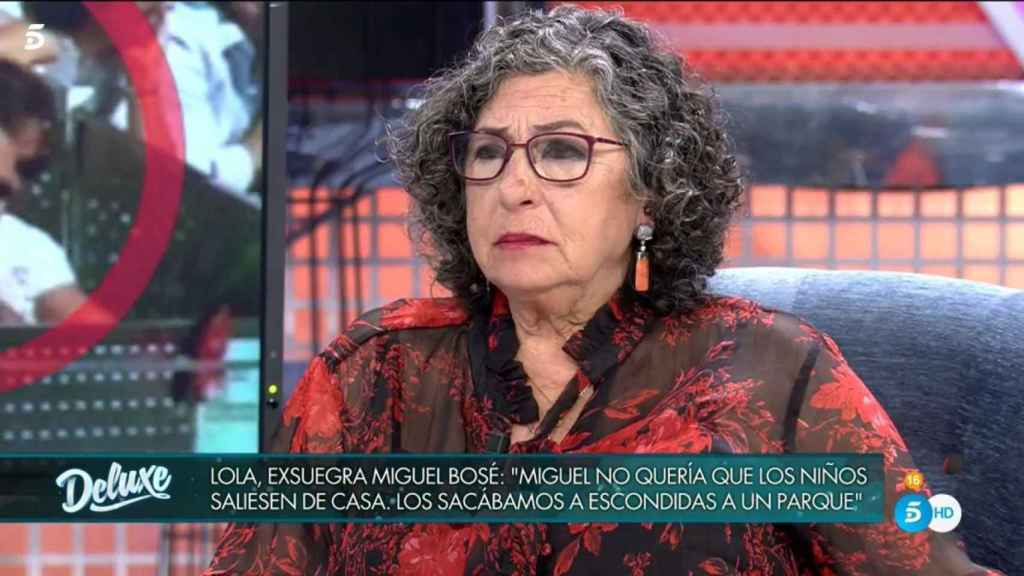 La madre de Nacho Palau visitó el 'Deluxe' para hablar de la separación de su hijo y Miguel Bosé.