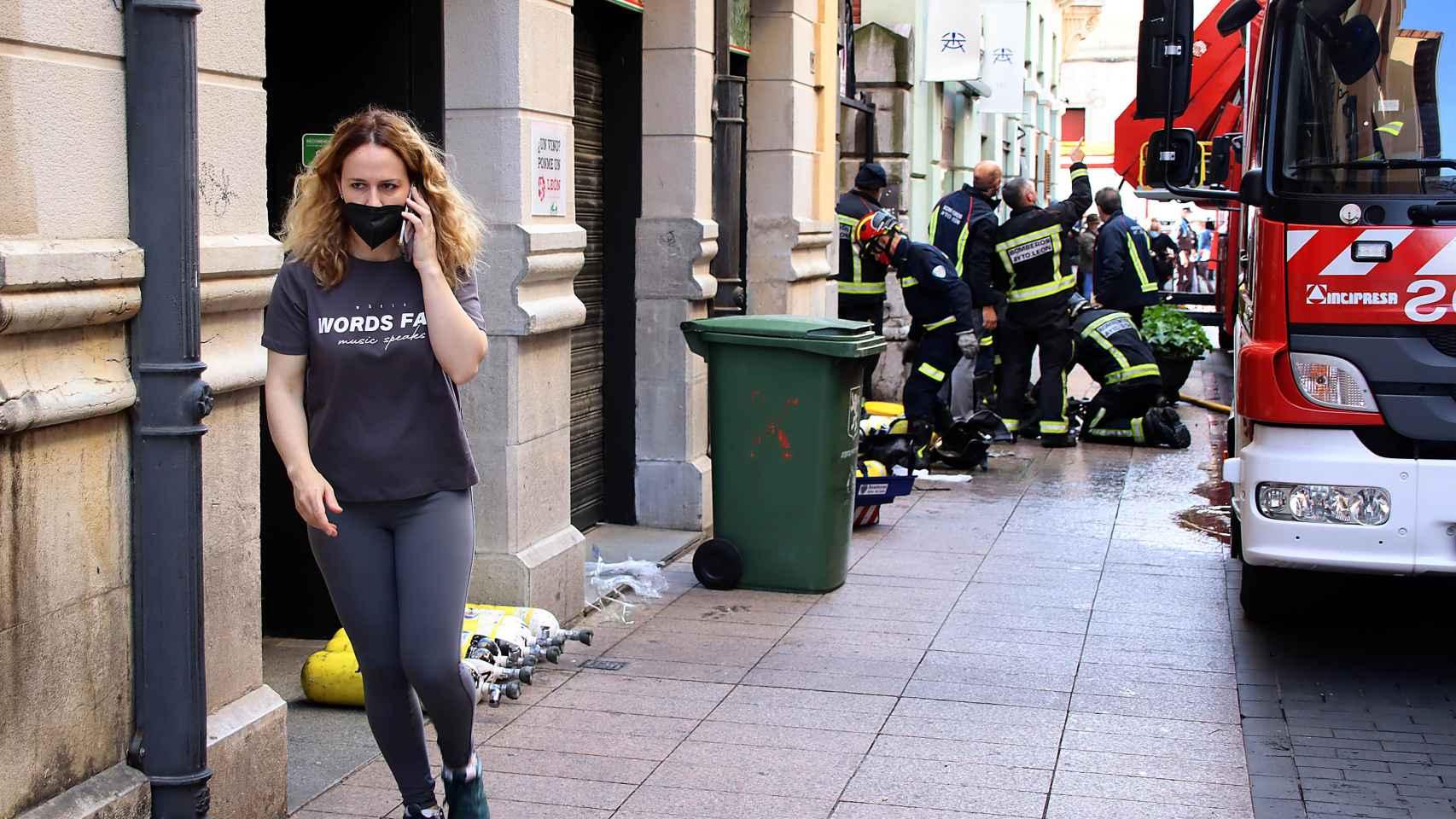 Incendio en el Restaurante Clandestino, en el casco histórico de León 1