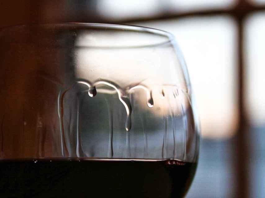 Lágrimas del vino.