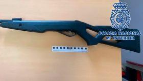 El arma empleada por el presunto agresor.