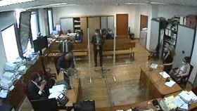 El empleado de Podemos Javier Ibáñez López, el pasado día 7 ante el juez del 'caso Neurona'.