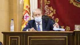 El ministro de Justicia, Juan Carlos Campo, comparece en el Senado ante la Comisión de Justicia este jueves. EP