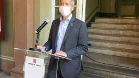 El conseller de Educación de la Generalitat, Josep Gonzàlez-Cambray, en rueda de prensa.