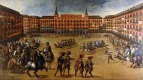 Fiestas en la Plaza Mayor de Madrid (Juan de la Corte, 1623)