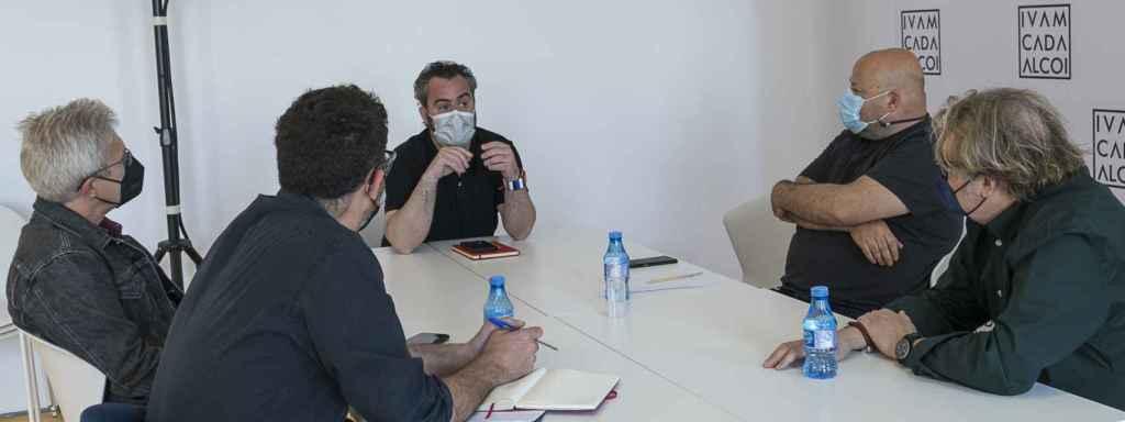 Raül Llopis en la reunión preparatoria del Museo Camilo Sesto.