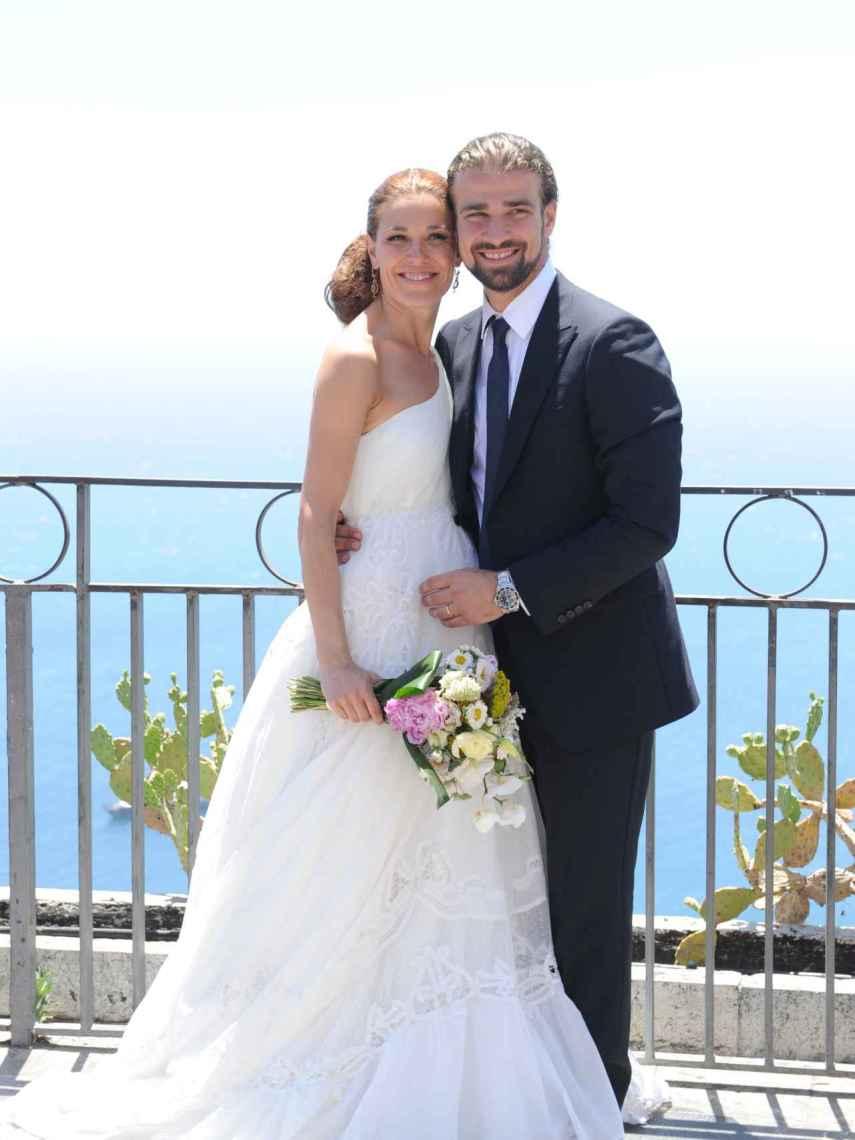 Raquel Sánchez Silva and Mario Biondo, on their wedding day.