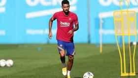Matheus Fernandes en un entrenamiento del Barça