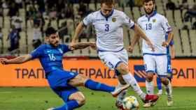 Varazdat Haroyan en un partido con Armenia