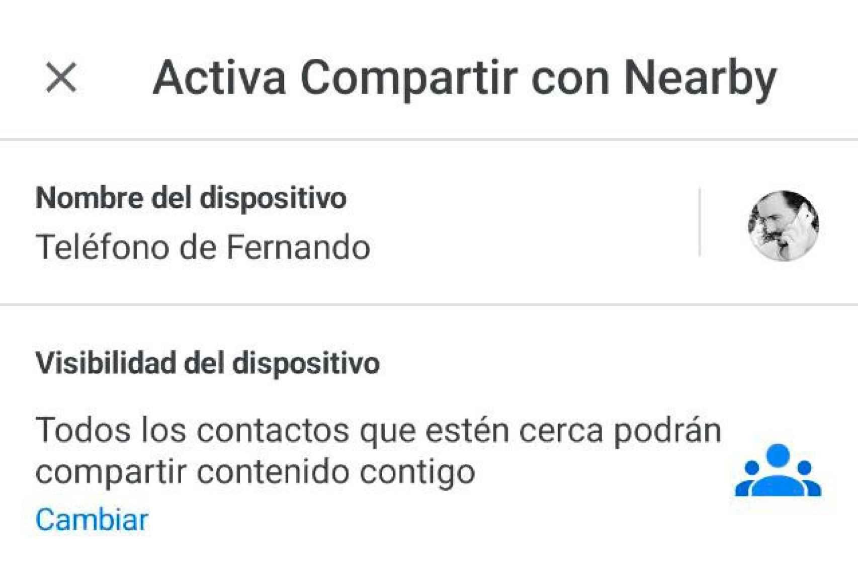 Cómo activar Nearby Share en Android