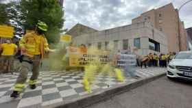 Protesta de los trabajadores de Geacam en Cuenca