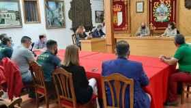 Un instante de la Comisión Local de Seguridad celebrada este viernes en Horche (Guadalajara)
