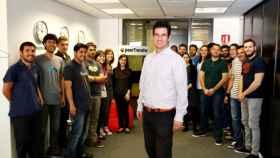 Iker Marcaide junto al equipo humano de PeerTransfer, proyecto embrionario que daría lugar en 2015 a la actual Flywire.