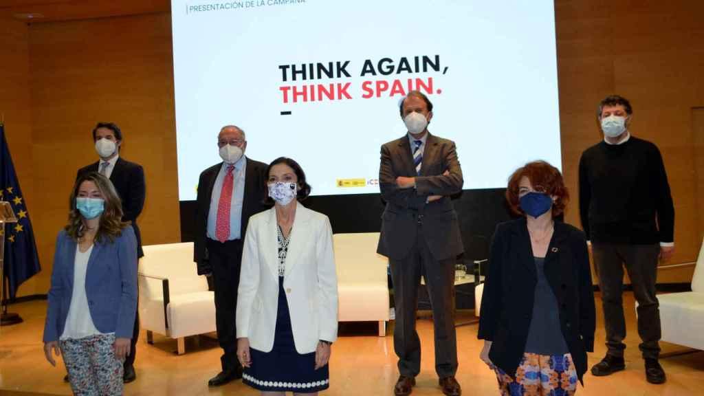 Reyes Maroto en el acto de presentación de la campaña 'Think Again, Think Spain'.