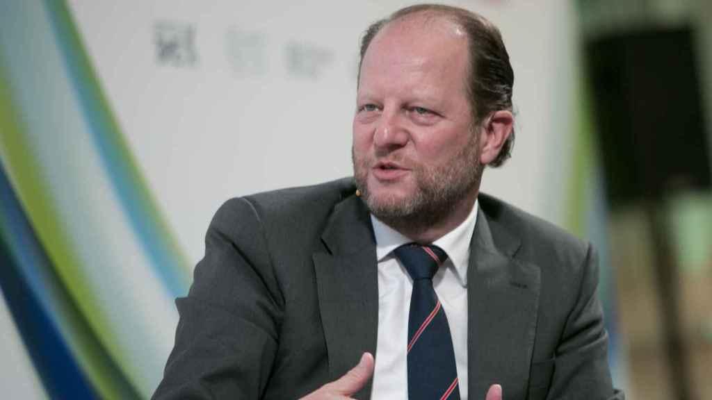 El presidente de BME, Jos Dijsselhof, en un acto público en Madrid.