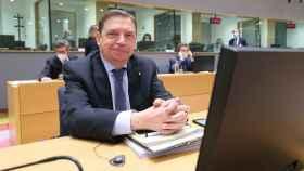 El ministro de Agricultura, Luis Planas, durante la última reunión sobre la PAC en Bruselas