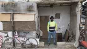 Casas hechas con palés en uno de los barrios más pobres de Níjar.