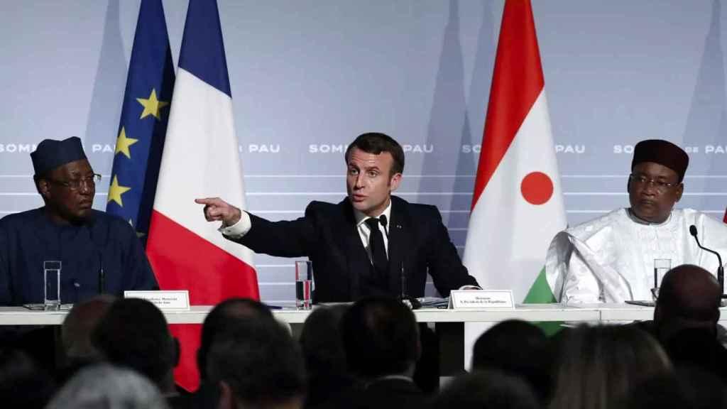 Emmanuel Macron durante una reunión del G5 Sahel en enero de 2020 en Mauritania.