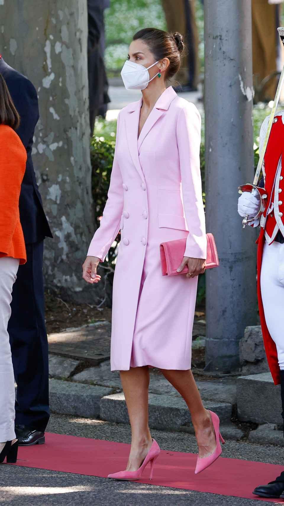 El 'outfit' que ha escogido la Reina para el Día de las Fuerzas Armadas.