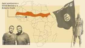 Mapa de la zona de conflicto entre Al Qaeda y EI, donde fueron asesinados los periodistas españoles.