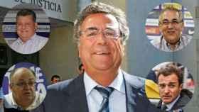 Enrique Ortiz y algunos de sus presidentes: Valentín Botella, Carlos Parodi, Juan Carlos Ramírez y Quique Hernández.