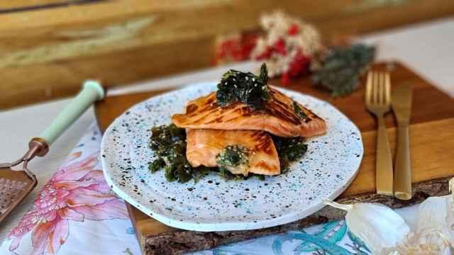 Salmón teriyaki con ensalada de algas, una receta fácil y rápida