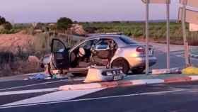 Uno de los vehículos implicados en el accidente (Cortesía de Milagros Diana, periodista de RTVE en Toledo)