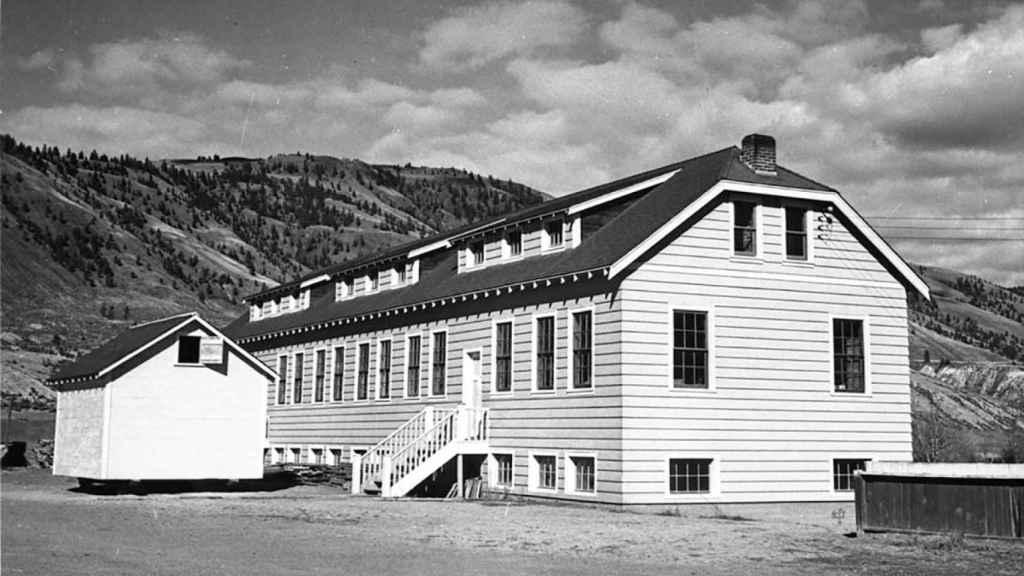 La antigua residencia escolar de Kamloops.