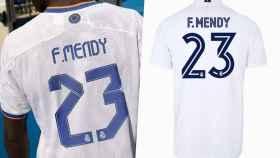 La fuente de letra del nombre y el número de la camiseta del Real Madrid en la temporada 2021/2022 y durante la 2020/2021