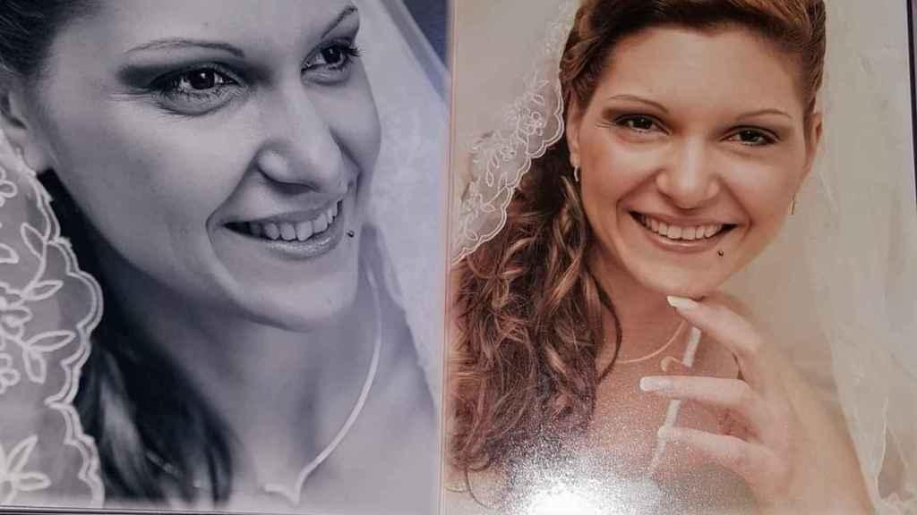 Clara en las fotografías de su boda.